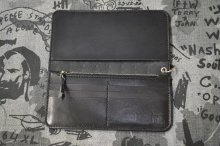他の写真1: 【 VENOM】QEE別注 CROSS LONG WALLET / BLACK x SILVER