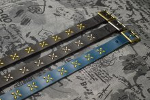 他の写真1: 【VENOM】QEE別注 CROSS STUDS BELT / BLUE x GOLD