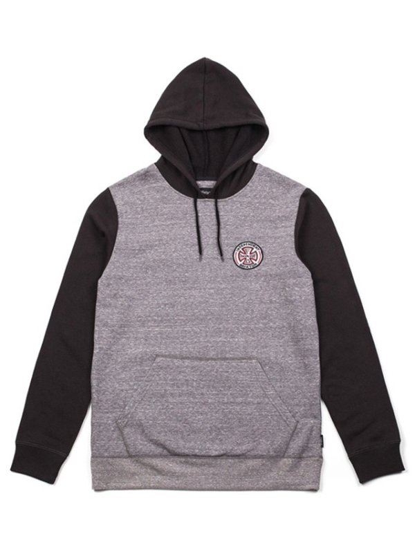 画像1: 【BRIXTONxINDEPENDENT】WILKINSON HOODED PULLOVER / HEATHER GREYxBLACK