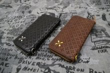 他の写真2: 【Venom Leather】Qee別注 Cross Emboss Zip-around Wallet / Black