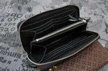他の写真1: 【Venom Leather】Qee別注 Cross Emboss Zip-around Wallet / Black